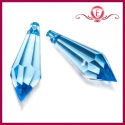 Koraliki akrylowe szlifowane niebieskie