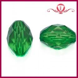 Koraliki akrylowe szlifowane zielone