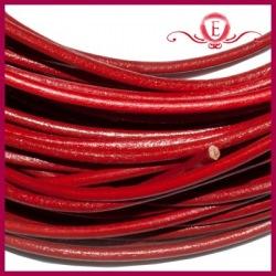 Rzemień naturalny czerwony 3mm
