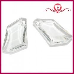Koraliki akrylowe szlifowane transparentne