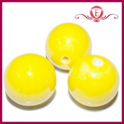 Koraliki ceramiczne kule zółte