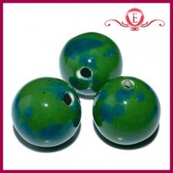 Koraliki ceramiczne kule zielone