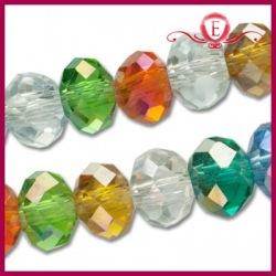 Szklane oponki fasetowane multicolor