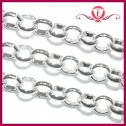 Łańcuszek rolo kolor srebrny