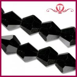 Koraliki szklane Bicone czarne