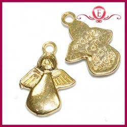 Zawieszka charms aniołek kolor złoty