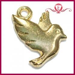 Zawieszka charms gołąbek kolor złoty