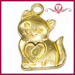 Zawieszka charms kotek kolor złoty