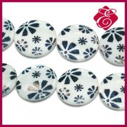 Masa perłowa monety w kwiaty