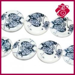 Masa perłowa monety w kwiatuszki