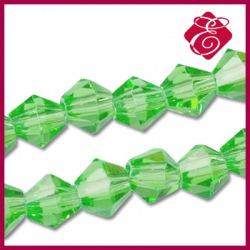 Koraliki szklane Bicone, zielone