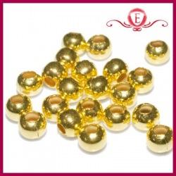 Ozdobne kuleczki złote 4mm