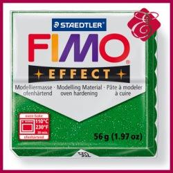 FIMO effect, modelina 56g, niebieski brokatowy