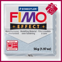 FIMO effect, modelina 56g, fioletowy brokatowy