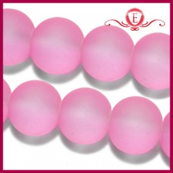 Szklane kule matowe różowe 8mm