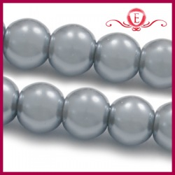 Perełki szklane srebrne 4mm