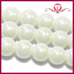 Perełki szklane perłowe 10mm
