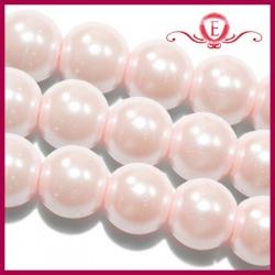 Perełki szklane perłowe 8mm