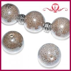 Kule ceramiczne brązowe nakrapiane