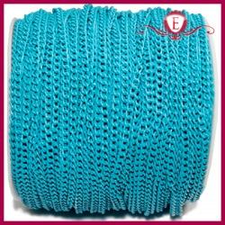 Łańcuszek ozdobny aluminiowy niebieski