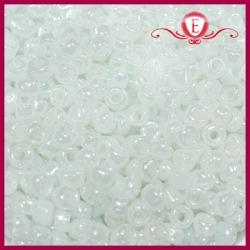 Koraliki szklane drobne - White