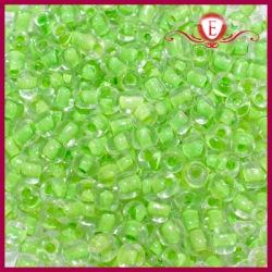 Koraliki szklane drobne - Crystal with sour apple lining
