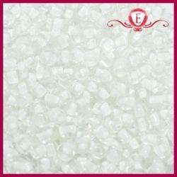 Koraliki szklane drobne - LT Crystal with snow lining
