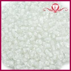 Koraliki szklane drobne - Crystal with snow lining