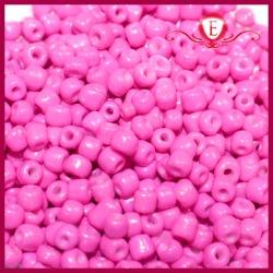 Koraliki szklane drobne - Neon Pink