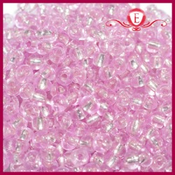 Koraliki szklane drobne - Pink