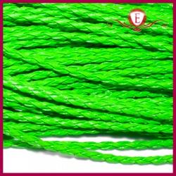 Rzemień pleciony, neon zielony