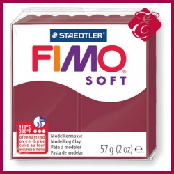 FIMO soft, modelina 57g, wiśnowy