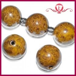 Koraliki ceramiczne kule brązowe
